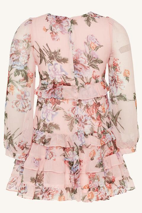 TWEEN GIRL HENRI FRILL DRESS in colour HEAVENLY PINK