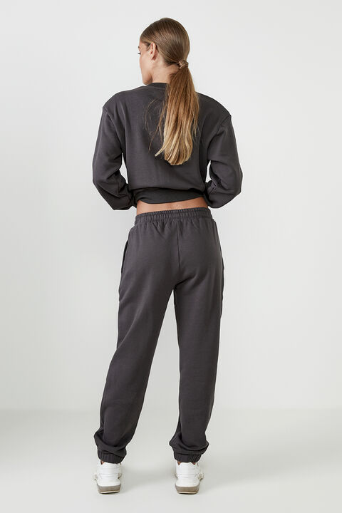 THE ORGANIC SWEAT PANT  in colour JET BLACK