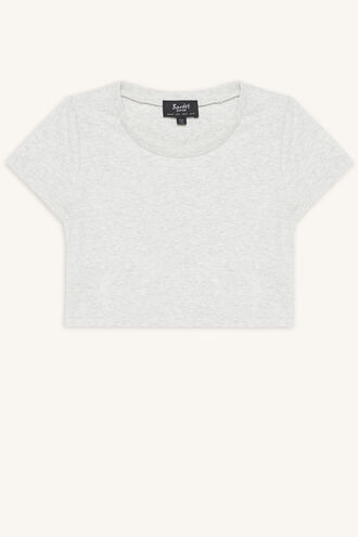 NINA SCOOP TEE in colour MOONBEAM