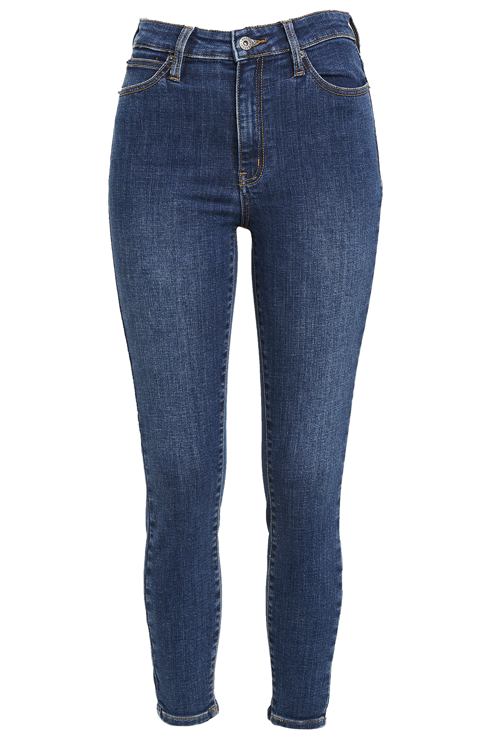 KHLOE HI CROP JEAN in colour CAPTAIN'S BLUE