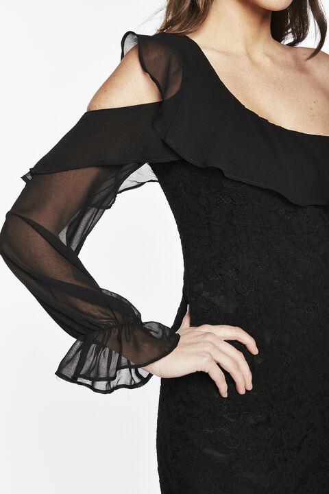 FIORELLA LACE DRESS in colour CAVIAR