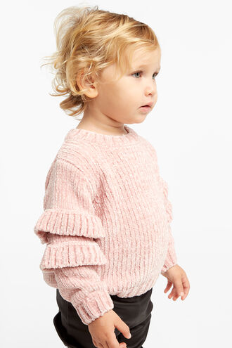 AGNES RUFFLE KNIT in colour PEACHSKIN