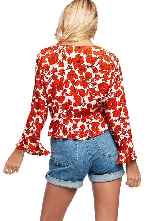 FLORAL BLOUSE in colour MARSHMALLOW