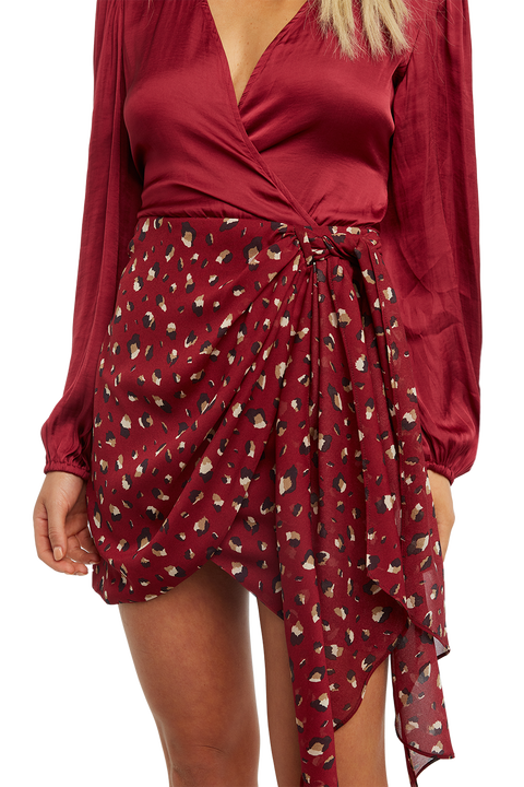ELENA TIE BLOUSE in colour DRY ROSE