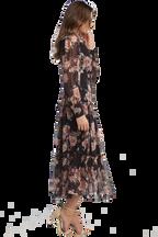 NAVY FLORAL DRESS in colour ESTATE BLUE