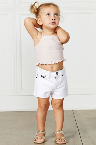 FRANKIE DENIM SHORT in colour BRIGHT WHITE