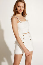 OLIVIA BUSTIER in colour BRIGHT WHITE