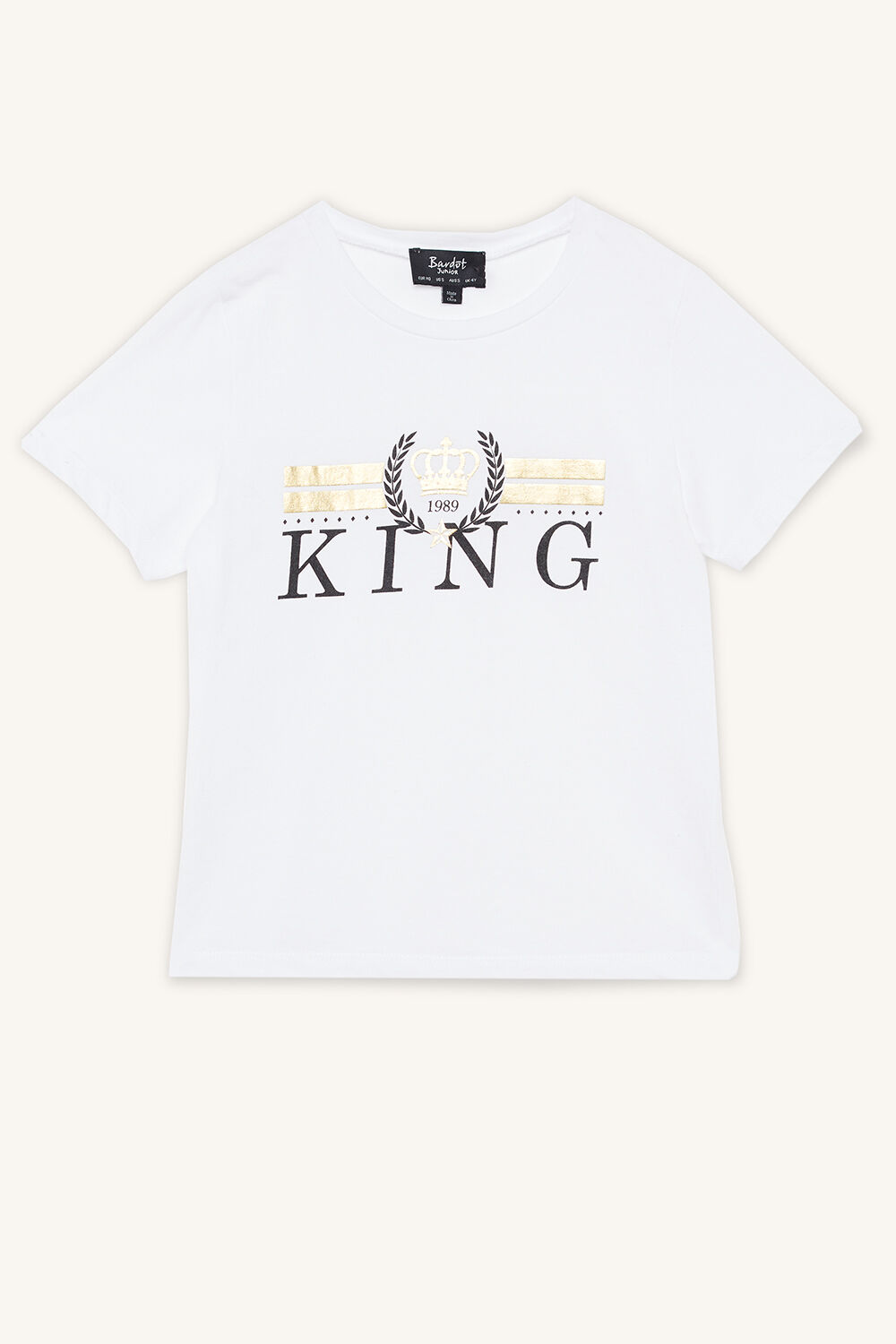 KING TEE in colour BRIGHT WHITE