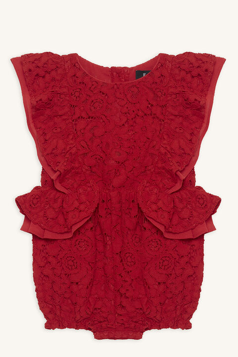 LACE FRILL GROW in colour LOLLIPOP