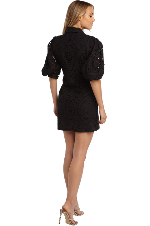 BRODY MINI DRESS in colour CAVIAR