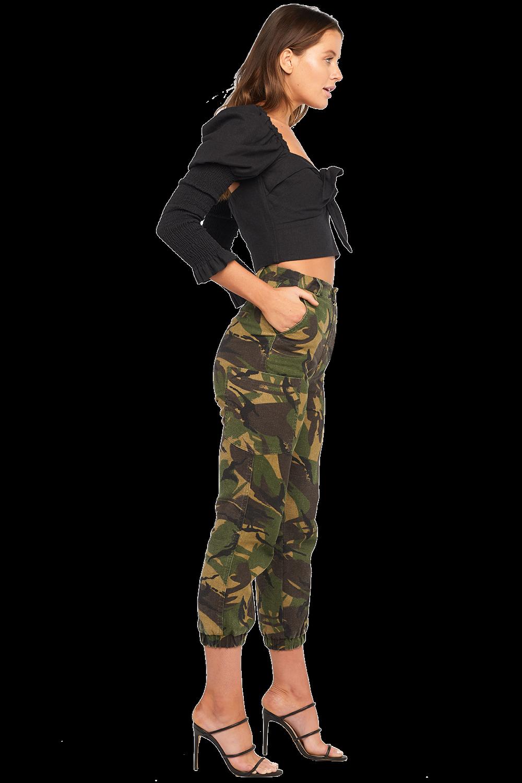 SAFARI CAMO PANT in colour CHIVE