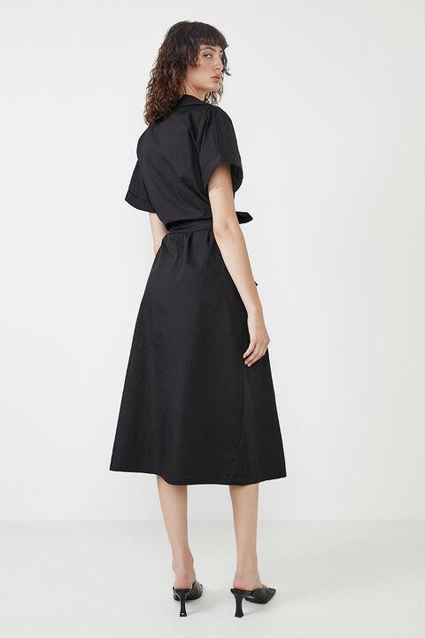 DAY SHIRT DRESS in colour CAVIAR