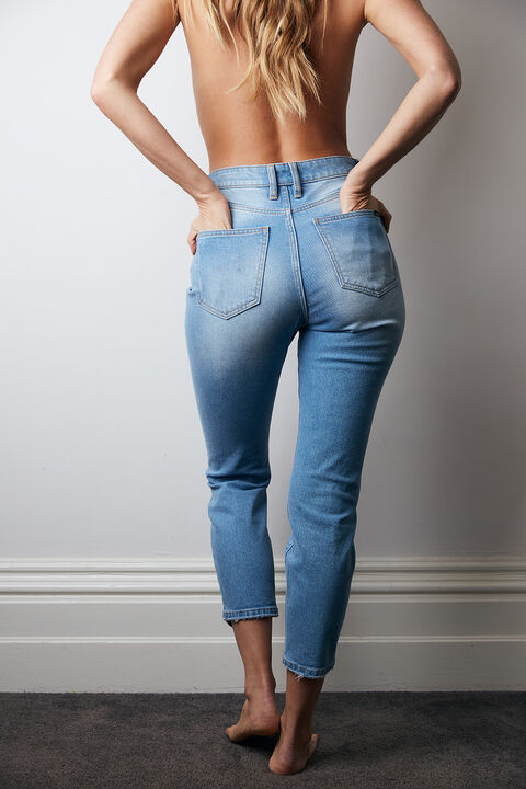 SIENNA SUPER HIGH RISE JEAN in colour BRIGHT WHITE