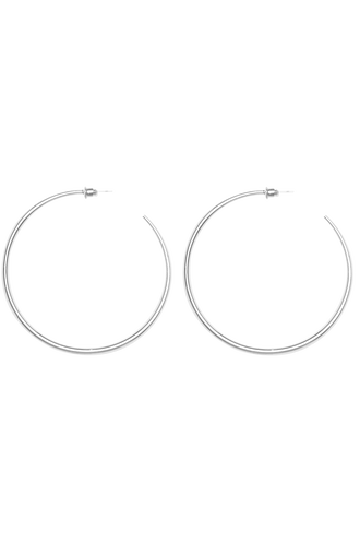 SUPER HOOP EARRING in colour SILVER