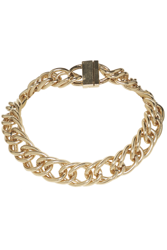 CHAIN LINK NECKACE in colour GOLD EARTH