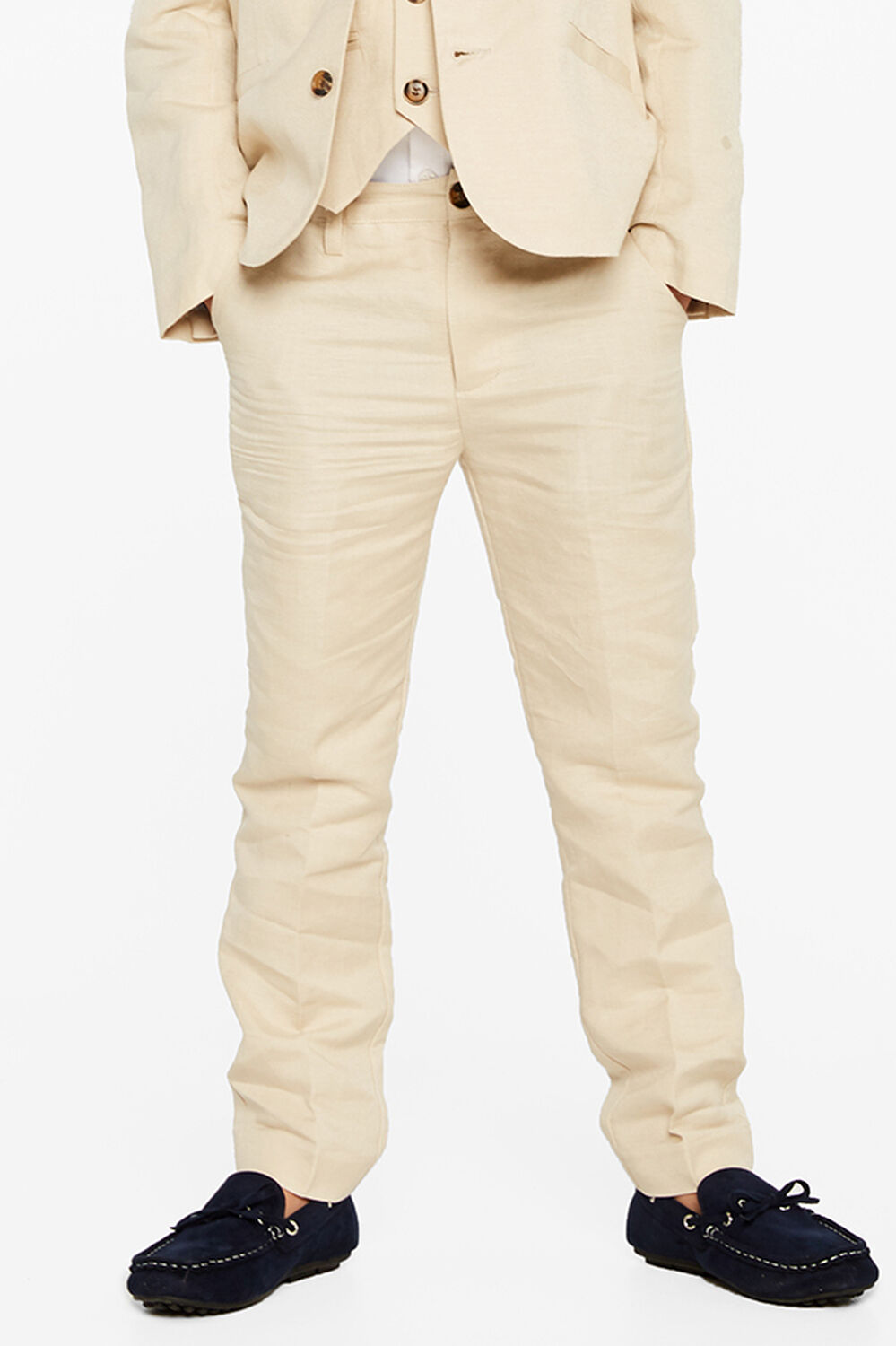 MILES LINEN PANT in colour MOONLIGHT