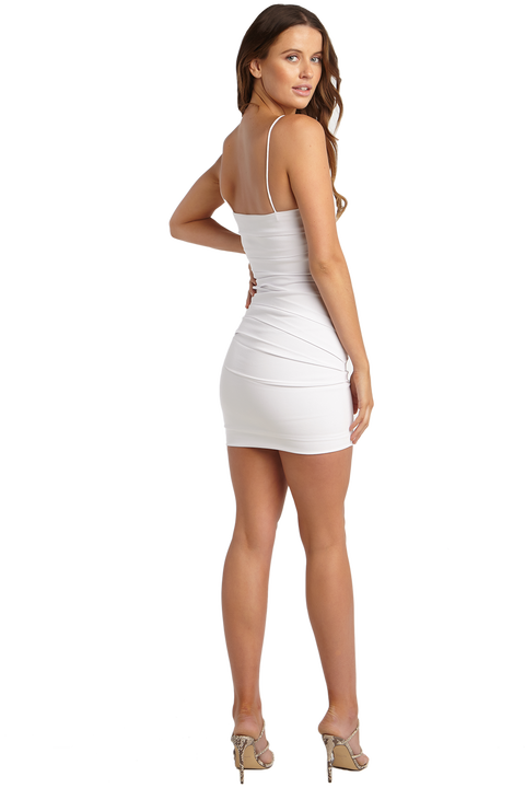 ROXANNE MINI DRESS in colour CLOUD DANCER