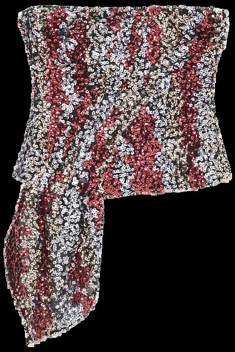 MULITI SEQUIN TOP in colour CAVIAR