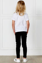BLACKOUT SKINNY JEAN. in colour JET BLACK