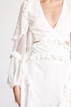 ZIGGY MINI DRESS in colour CLOUD DANCER