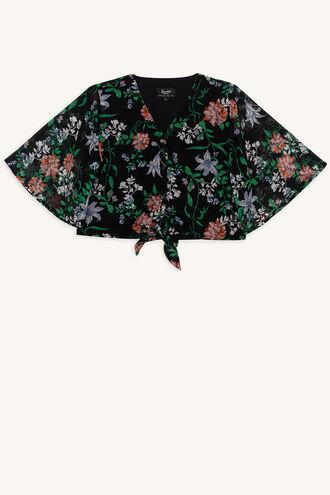LUNA TIE TOP in colour CAVIAR