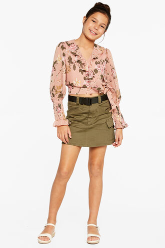 DIANA FLORAL TOP in colour EVENING SAND