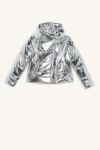 MINA WRAP PUFFER in colour LUNAR ROCK