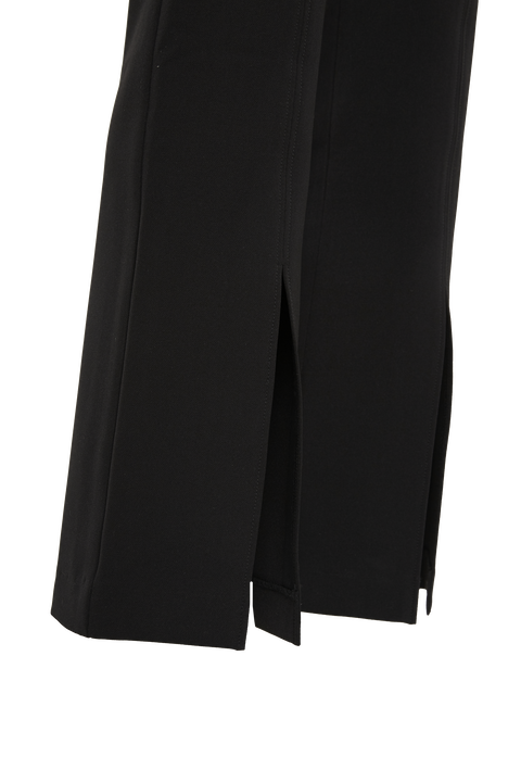 KICKFLARE SPLIT PANT in colour CAVIAR