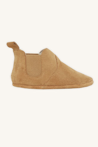 DECLAN SUEDE BOOTIE in colour BEIGE