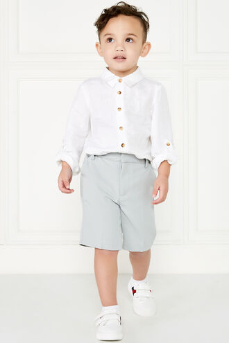BERNARD LINEN SHIRT in colour BRIGHT WHITE