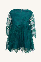 BABY GIRL GERTRUDE LACE DRESS   in colour GREEN GABLES