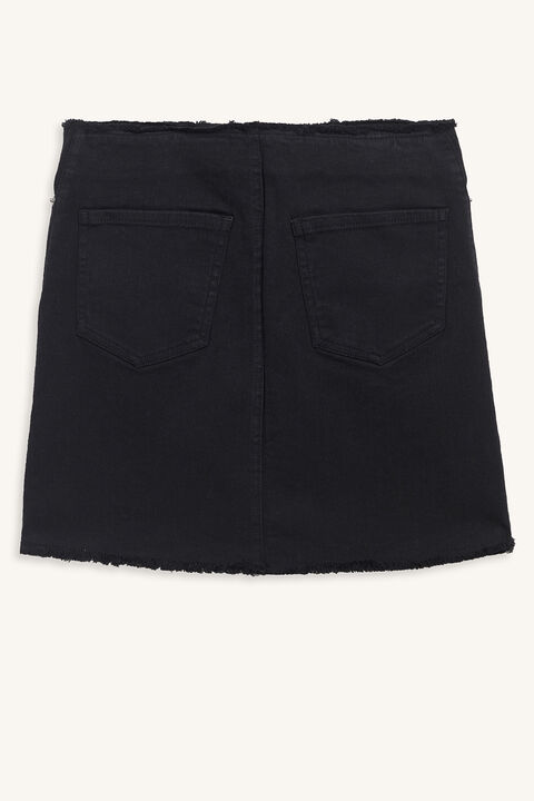 DARIA DENIM SKIRT in colour CAVIAR