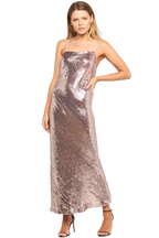 SEQUIN SLIP DRESS in colour SHRIMP