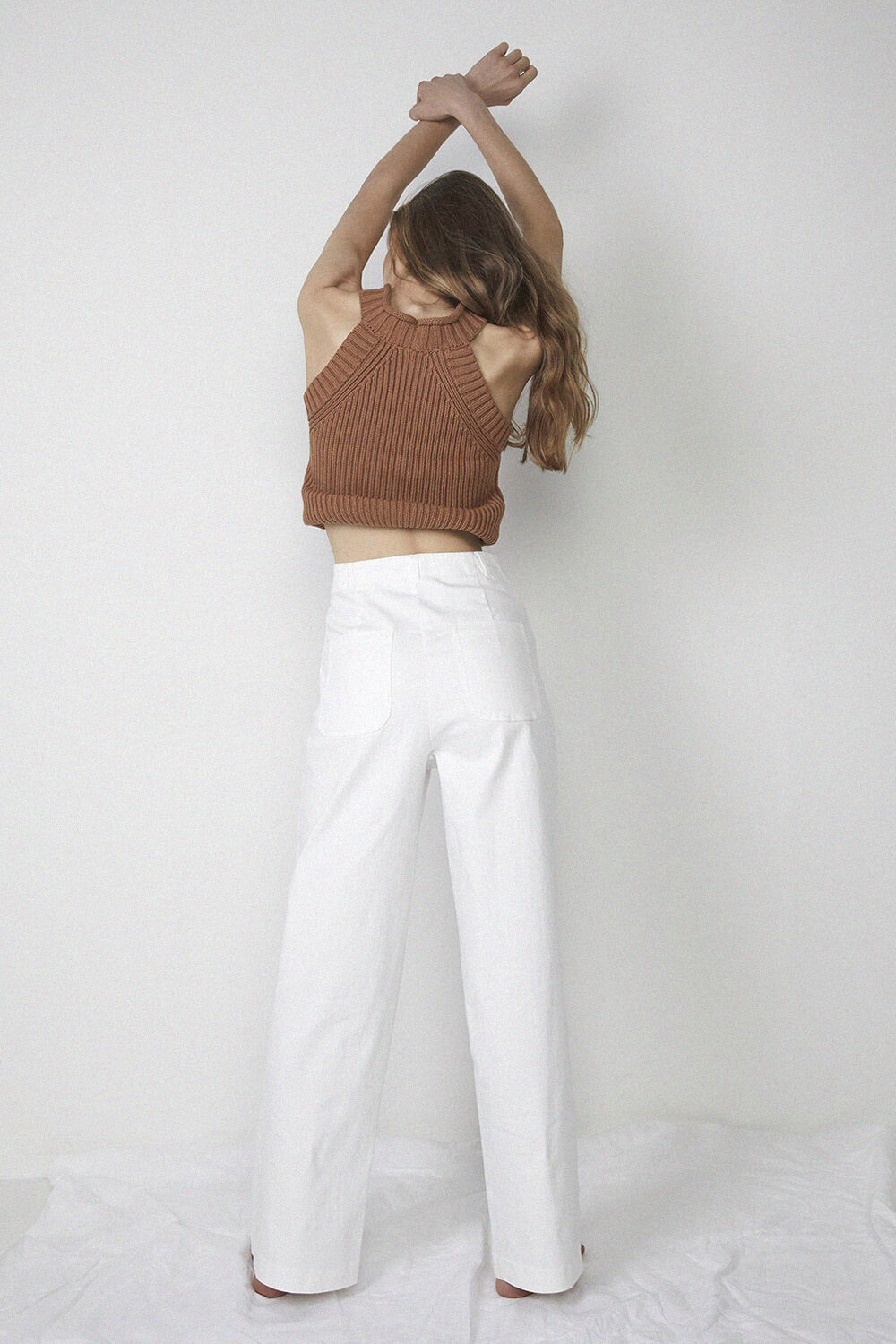 STRETCH DRILL PANT in colour CLOUD DANCER