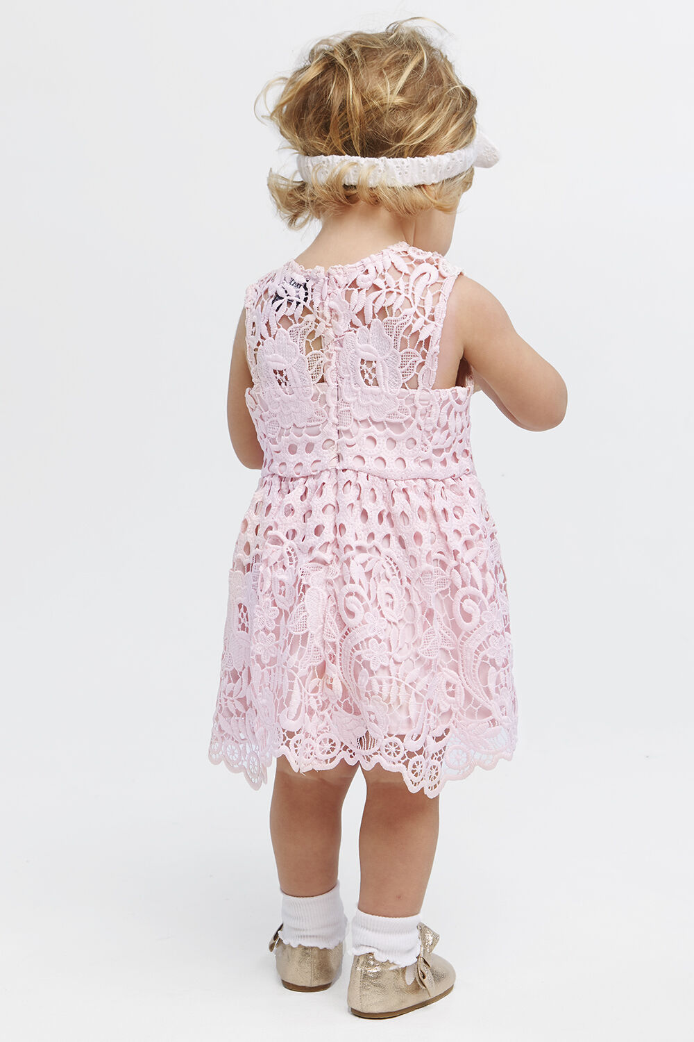 PERRY LACE DRESS in colour POTPOURRI
