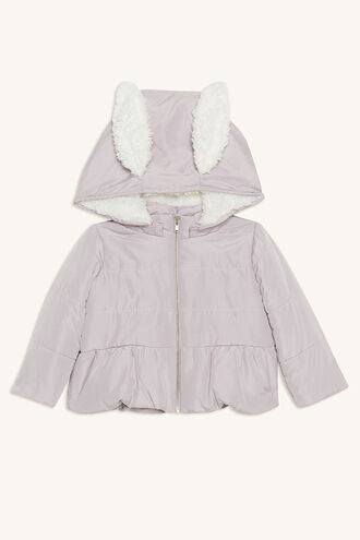 BUNNY EAR PUFFER in colour GRAY LILAC
