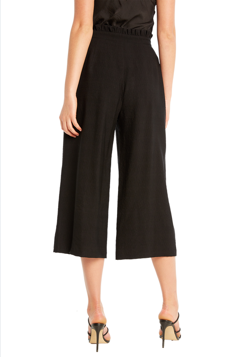 NATALIE CULLOTE PANT in colour CAVIAR