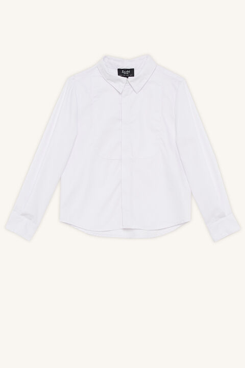 BIB BUTTON UP SHIRT in colour BRIGHT WHITE