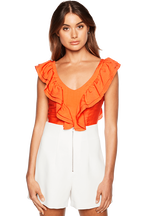 FRILL BUSTIER in colour FLAME