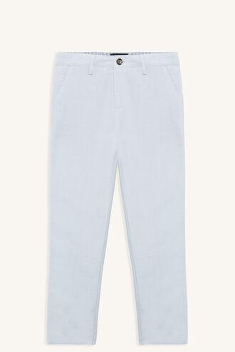 MILES LINEN PANT in colour ILLUSION BLUE