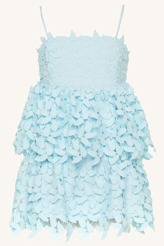 DARCY LEAF DRESS in colour CRYSTAL BLUE