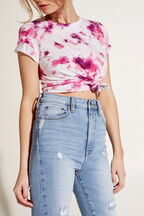 PURPLE TIE DYE TEE in colour BRIGHT VIOLET