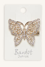 JEWELLED BUTTERFLY CLIP in colour GOLD EARTH