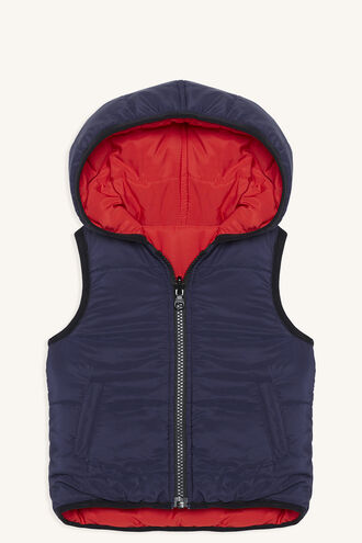 REVERSE PUFFA VEST in colour SKYDIVER