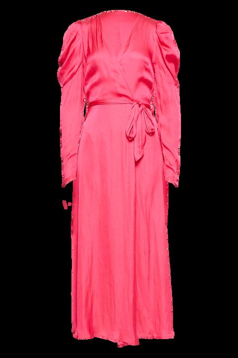 ALIVIA WRAP DRESS in colour MAGENTA