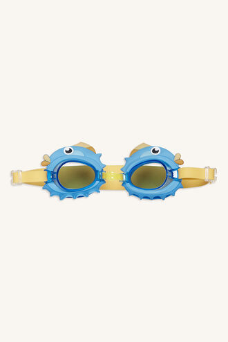 S.SWIM. GOGGLES 3-9 PUFFERFISH in colour BLUE BELL