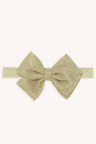 OVERSIZE BOW HEAD WRAP in colour GOLD EARTH