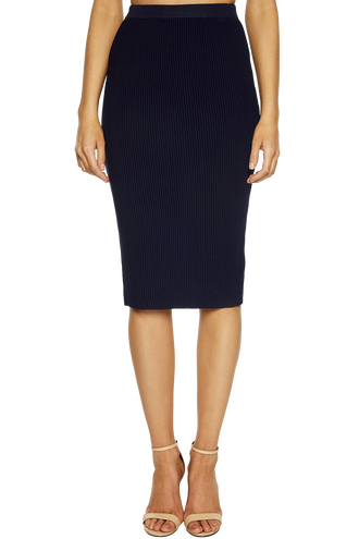 OTTOMAN KNIT SKIRT in colour PATRIOT BLUE