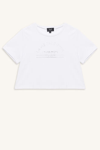 FRENCHY TEE in colour CLOUD DANCER