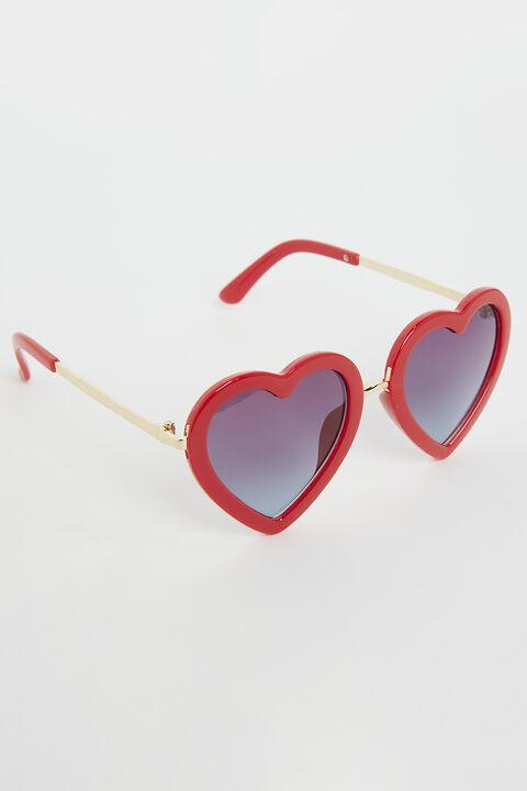 ZOE LOVE HEART SUNGLASSES in colour FIESTA